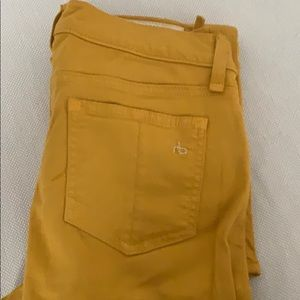 Rag and bone mustard color pants 26